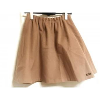 【中古】 ブルーレーベルクレストブリッジ スカート サイズ38 M レディース ベージュ ウエストゴム