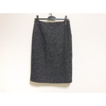 【中古】 ナラカミーチェ NARACAMICIE スカート サイズ1 S レディース 黒 白 ラメ