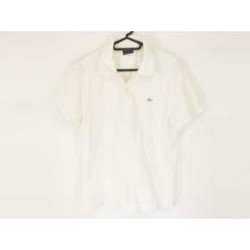 【中古】 ラコステ Lacoste 半袖ポロシャツ サイズ3 L メンズ 白