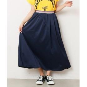 レイカズン ウエストラインゴムギャザースカート レディース ネイビー FREE 【Ray Cassin】
