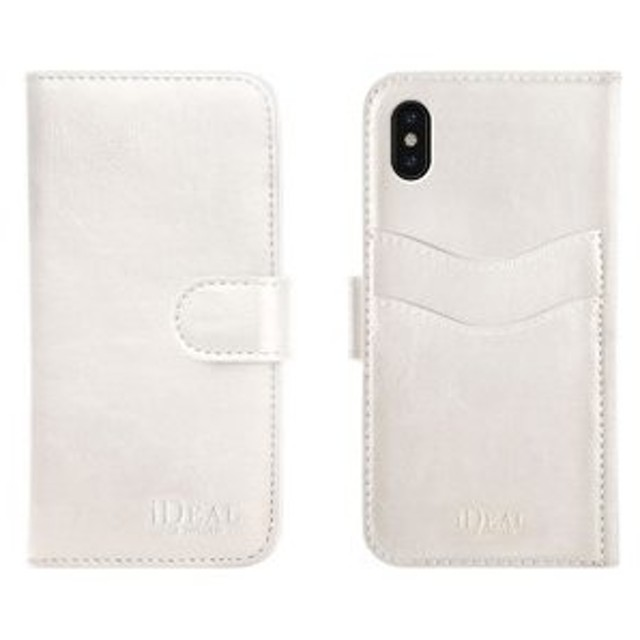 e070323133 IDEAL OF SWEDEN iPhone XS Max用 Magnet Wallet 手帳型ケース(ホワイト) アイディア