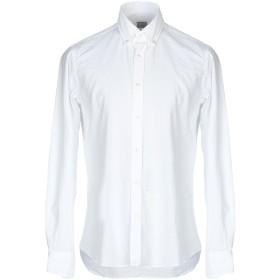 《期間限定セール開催中!》XACUS メンズ シャツ ホワイト 43 コットン 100%