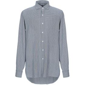 《セール開催中》GIAMPAOLO メンズ シャツ ダークブルー L コットン 100%