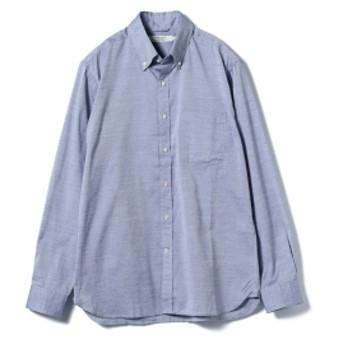BEAMS LIGHTS / COOLMAX (R) ボタンダウンシャツ メンズ カジュアルシャツ NAVY XL