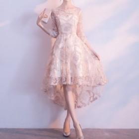 イブニングドレス パーティー フィッシュテール 結婚式 二次会 お呼ばれ ワンピース ドレス 冬 レース