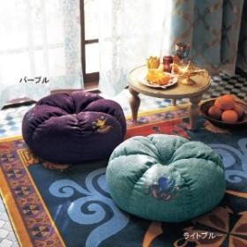 刺繍入りお花型あぐらクッション/アラジン/ジャスミン