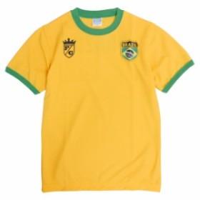 半袖 Tシャツ 子供 男の子 キッズ ジュニア サッカー ユニホーム風 プリント 国旗タイプワッペ