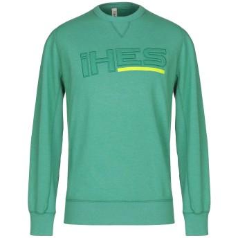 《セール開催中》IHES メンズ スウェットシャツ グリーン XL コットン 70% / ポリエステル 30%