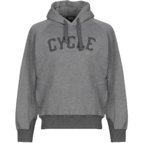 《期間限定セール開催中!》CYCLE メンズ スウェットシャツ グレー M コットン 100%