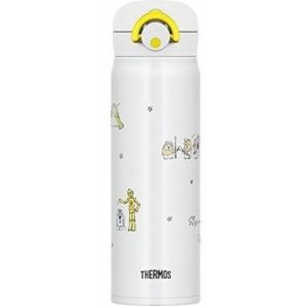 サーモス 水筒 真空断熱ケータイマグ 【ワンタッチオープンタイプ】 スターウォーズ 500ml ドゥードゥルホワイト JNR-500SW