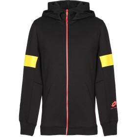 《期間限定セール開催中!》DAMIR DOMA x LOTTO メンズ スウェットシャツ ブラック XS ポリエステル 62% / コットン 38%
