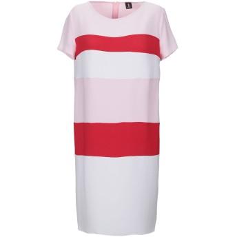 《セール開催中》1-ONE レディース ミニワンピース&ドレス ピンク 42 ポリエステル 93% / ポリウレタン 7%