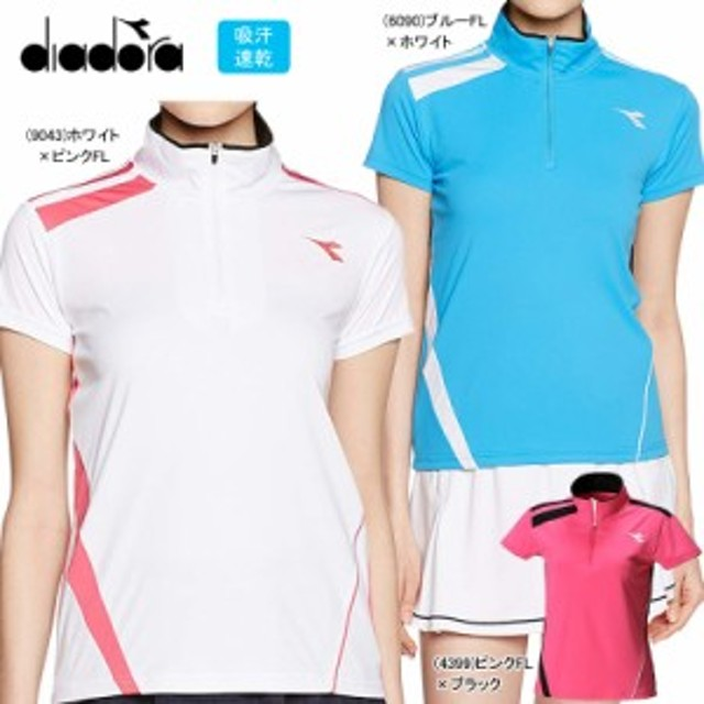 830d6104ebce9 DIADORA ディアドラ テニスウェア レディス Tシャツ ゲームシャツ DTL7343【19】