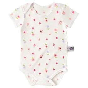 新生児 ミキハウス ホットビスケッツ ボディシャツ ピンク インナー・パジャマ 新生児・乳児(50~80cm) ロンパース(60cm~) (105)