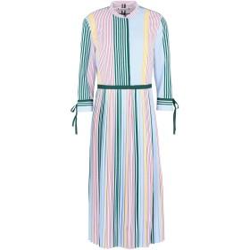 《期間限定セール開催中!》TOMMY HILFIGER レディース 7分丈ワンピース・ドレス グリーン 4 ポリエステル 100% FANCY PLEATED DRESS
