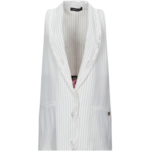 《セール開催中》MANGANO レディース テーラードジャケット ホワイト S ポリエステル 100%