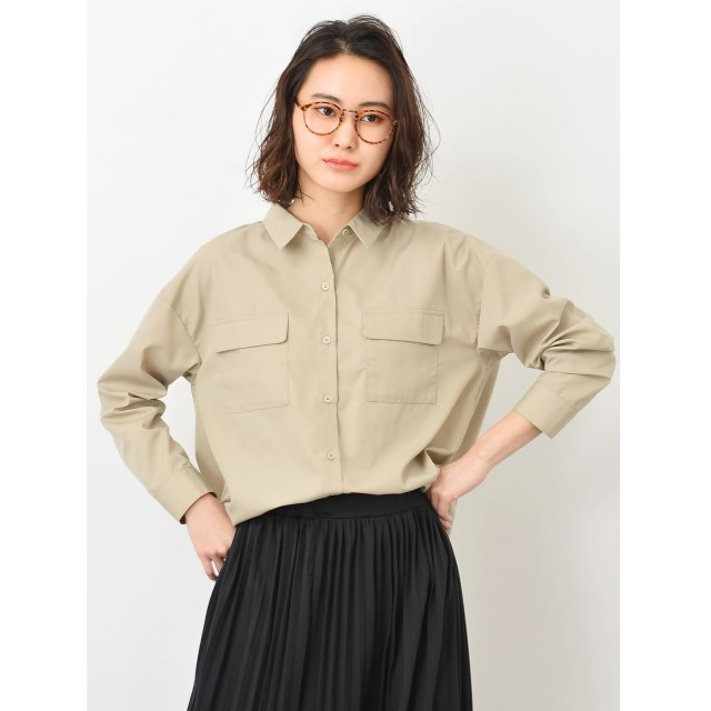 【オンワード】 koe(コエ) ポケット付シャツ Beige F レディース 【送料無料】