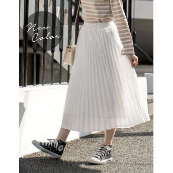 その他スカート - Re: EDIT 1枚でコーデが華やぐ綺麗色プリーツスカート 丈が選べるジョーゼットプリーツスカート ボトムス/スカート/ロング・マキシ丈(76cm~)