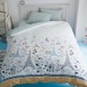 綿100%の掛け布団カバーエッフェル塔のレース柄