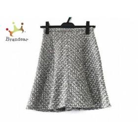 ジャスグリッティー スカート サイズ0 XS レディース 美品 グレー×白×シルバー ツイード 新着 20190320