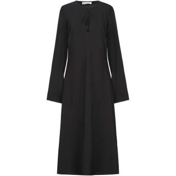 《セール開催中》LIVIANA CONTI レディース 7分丈ワンピース・ドレス ブラック 40 ポリエステル 94% / ポリウレタン 6%