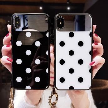 ドット ストラップ付き 2色 ケース 送料無料 iPhone6/6s iPhone6plus/6splus iPhone7/8 iPhone7plus/8plus iPhoneX XS XR XSMa