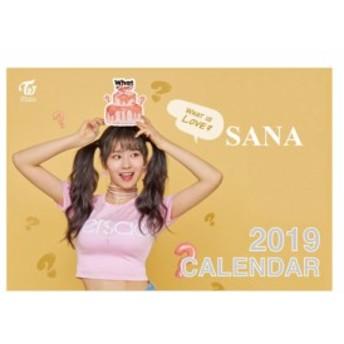 TWICE サナ 2019年 卓上カレンダー 日本祝祭日仕様 ( 韓メディアSHOP購入特典付 )