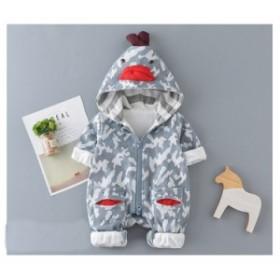 88fd55d466b13 長袖 ロンパース 防寒着 つなぎ 秋 新生児 幼児 動物柄 かわいい カバーオール 女の子 男の子 ジャンプスーツ