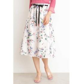 PROPORTION BODY DRESSING / プロポーションボディドレッシング  ファジーフラワープリントギャザースカート