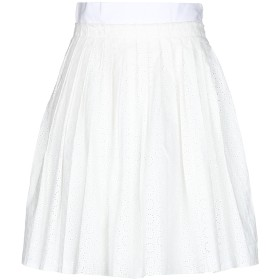 《9/20まで! 限定セール開催中》COAST WEBER & AHAUS レディース ひざ丈スカート ホワイト 44 コットン 100%
