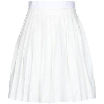 《セール開催中》COAST WEBER & AHAUS レディース ひざ丈スカート ホワイト 44 コットン 100%