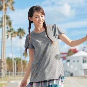 【大人気!4ヶ月で累計販売数3,900枚達成!】フレア袖チュニックTシャツ