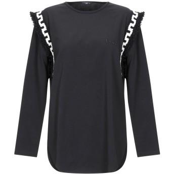 《期間限定セール開催中!》T+ART レディース T シャツ ブラック L コットン 90% / ポリウレタン 10%