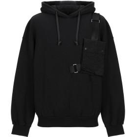 《送料無料》DBYD x YOOX メンズ スウェットシャツ ブラック 46 コットン 100%