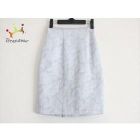 ジャスグリッティー JUSGLITTY スカート サイズ0 XS レディース ライトブルー×白 ラメ/刺繍   スペシャル特価 20190626