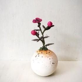 1793.[SALE]bud 粘土の鉢植え ギョリュウバイ