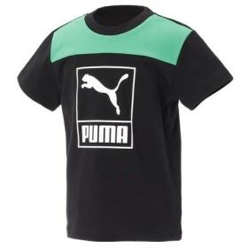 プーマ(PUMA) 【多少の汚れ等訳あり大奉仕】ジュニア ショートスリーブ Tシャツ 591893 01 BLK (Jr)