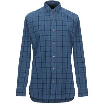 《セール開催中》GIAMPAOLO メンズ シャツ ブルー 40 コットン 100%