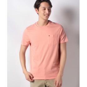 【37%OFF】 トミーヒルフィガー ポケットTシャツ/TOMMY CREW TEE メンズ オレンジ L 【TOMMY HILFIGER】 【タイムセール開催中】
