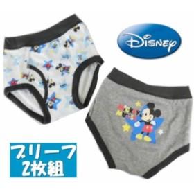 【メール便OK】 ディズニー ミッキーマウス 2Pブリーフ ベビーパンツ インナー 肌着 新柄