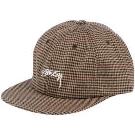《セール開催中》STUSSY メンズ 帽子 キャメル one size ポリエステル 70% / レーヨン 28% / ポリウレタン 2%