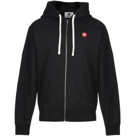 《期間限定セール開催中!》DOUBLE A by WOOD WOOD メンズ スウェットシャツ ブラック M コットン 100%