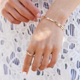 リング - REAL STYLE ノットデザインベーシックリング レディース 指輪 リング ring 11号 12号 13号 アクセサリー アクセ ジュエリー 雑貨小物 アシンメトリー シンプル ゴールド シルバー 太め プレゼント ギフト 韓国ファッション