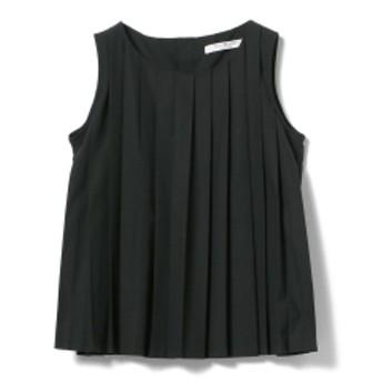 Ray BEAMS / タック ノースリーブ ブラウス レディース カジュアルシャツ BLACK ONE SIZE