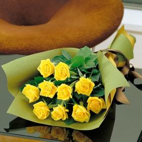 【日比谷花壇】父の日 花束「イエローローズ」