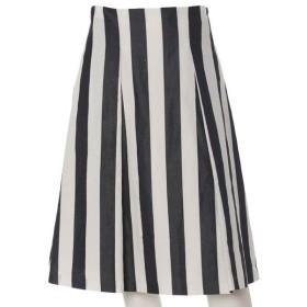 ef-de L / エフデ(エルサイズ) 《大きいサイズ》リネン混フレアスカート