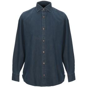 《期間限定 セール開催中》GIAMPAOLO メンズ デニムシャツ ブルー 40 コットン 100%