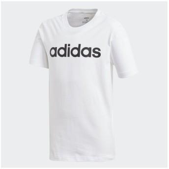 【25%OFF】 販売主:スポーツオーソリティ アディダス/キッズ/B CORE リニアロゴ Tシャツ レディース ホワイト/ブラック 130 【SPORTS AUTHORITY】 【セール開催中】