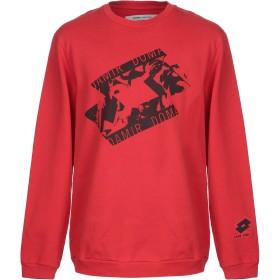 《期間限定セール開催中!》DAMIR DOMA x LOTTO メンズ スウェットシャツ レッド L コットン 100%