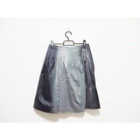 トゥモローランド TOMORROWLAND スカート サイズ38 M レディース グレー×黒 ストライプ【中古】